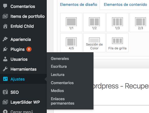 Curso de Wordpress - Ajustes básicos de Wordpress