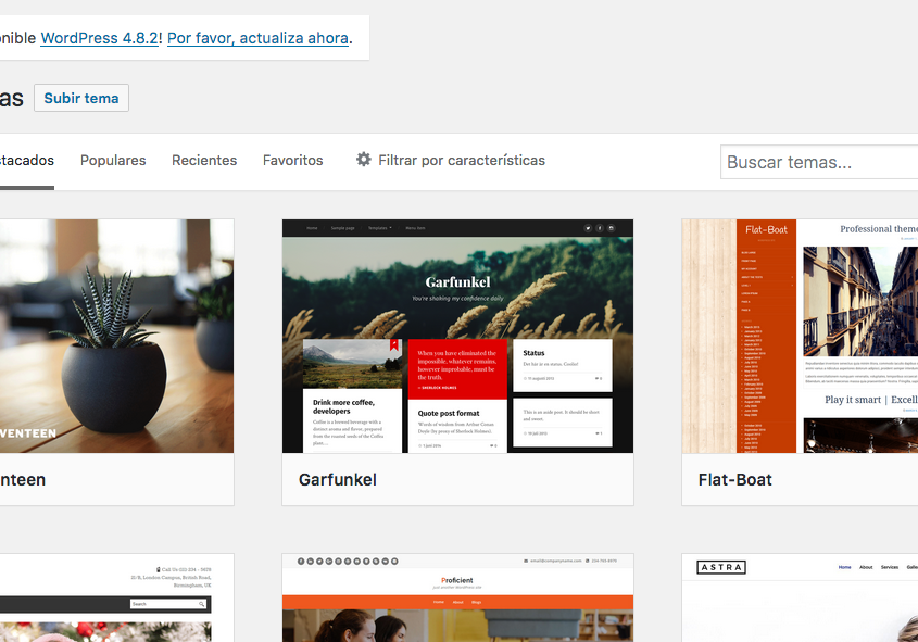 Curso de Wordpress - instalar theme