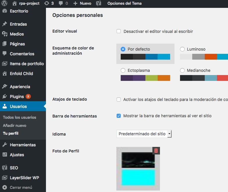 Curso Wordpress - La barra de herramientas de Wordpress