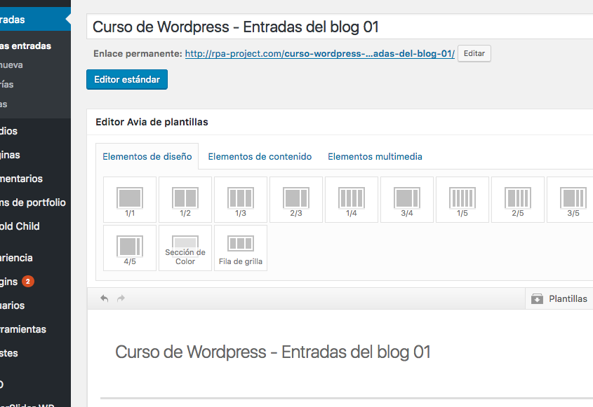 Curso-de-Wordpress-entradas-del-blog