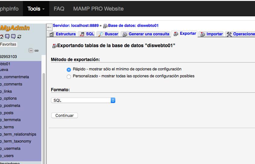 Curso de Wordpress - copia seguridad