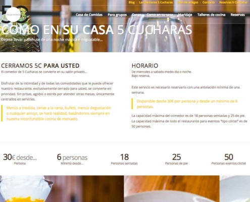 Diseño de página web para restaurante