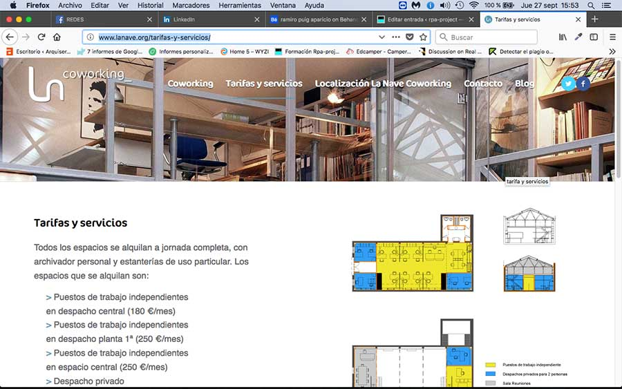 Diseño Gráfico y Web para Coworking en Madrid