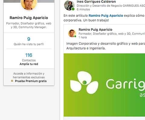Compartir un proyecto de diseño gráfico y web desde Behance en LinkedIn