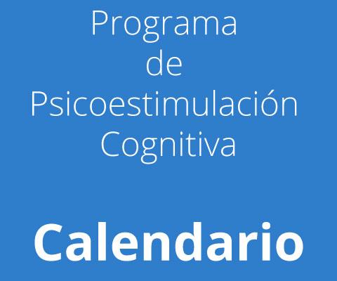 Calendario Programa de Psicoestimulación Cognitivav